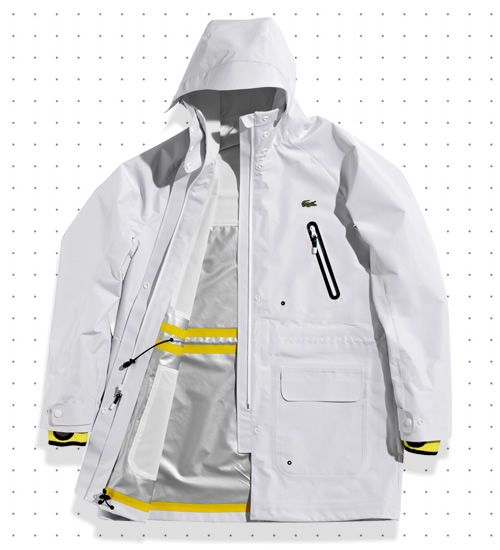 Alongside Lacoste's new sporting goods range, the Lab collection will feature a small line of technical apparel that includes a jacket