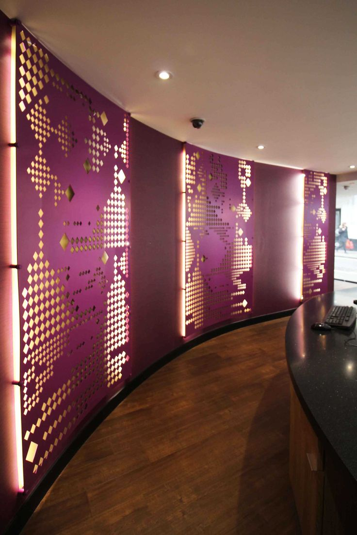 Laser cut backlit screens - Thai Airways - Mayfair, London. Design by Miles and Lincoln. www.milesandlincoln.com