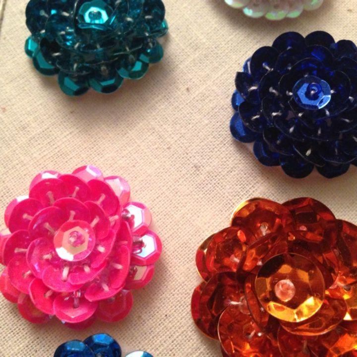 Sequin flower embellishment