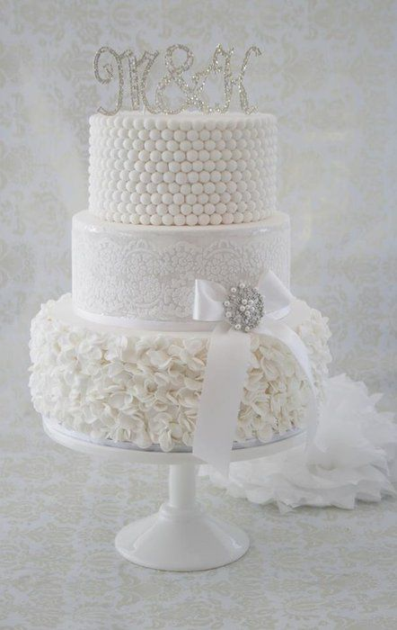 White Wedding - by cjsweettreats @ CakesDecor.com - cake decorating website