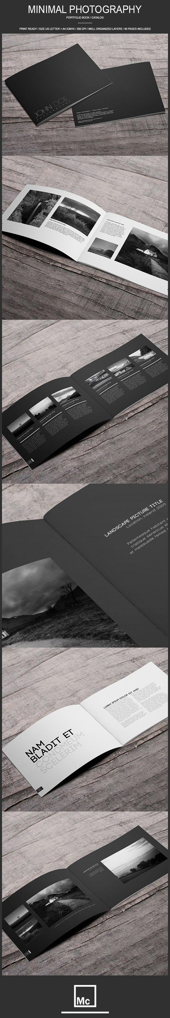 40 Page Minimal - Photography Portfolio Book by Macrochromatic, via Behance