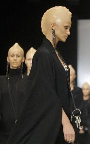 Love this concept of bald cap aliens