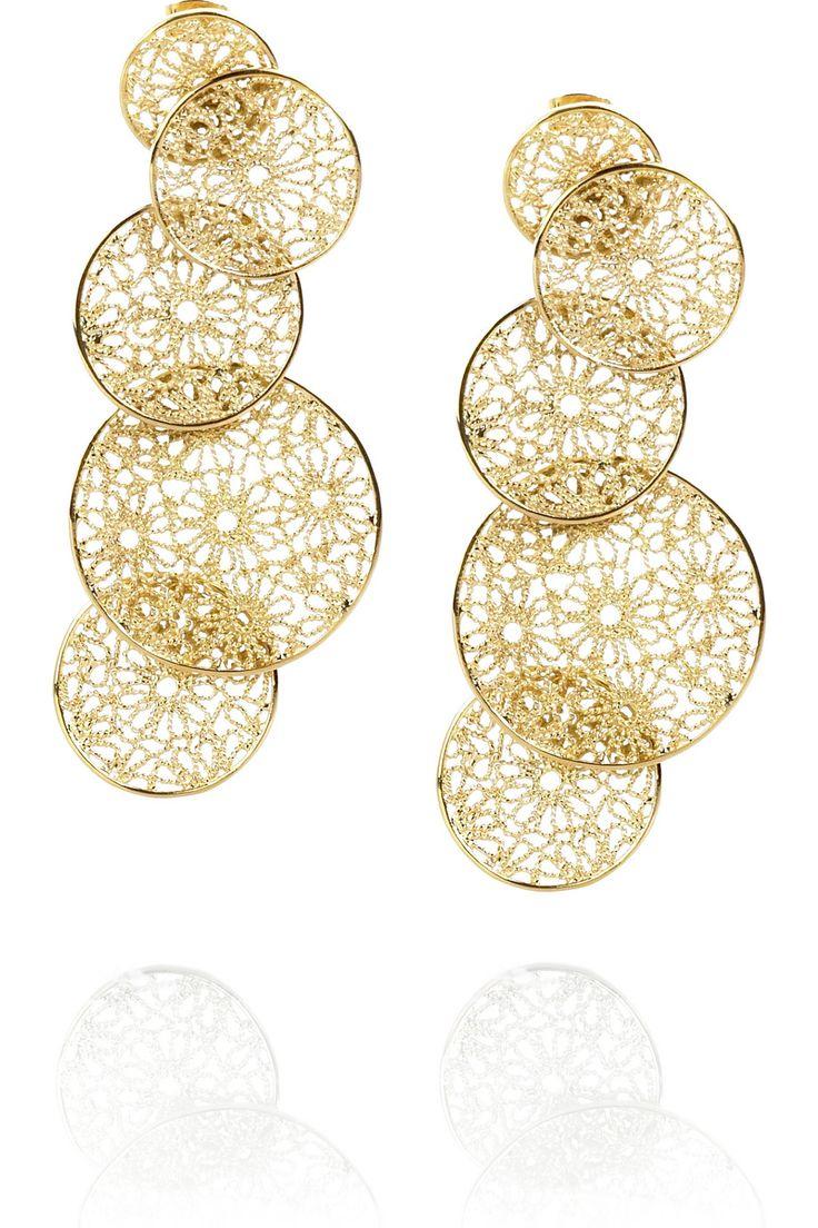 Isharya Daisy filigree earrings