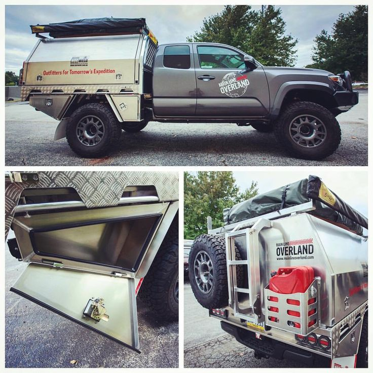 Awesome aluminum flat bed cover Toyota Overland