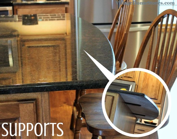 If your #granite or #quartz countertops have an overhang ...