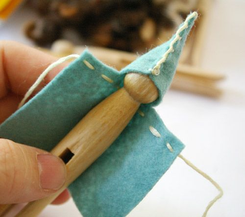 Hand made clothes pin fairy and elf ideas