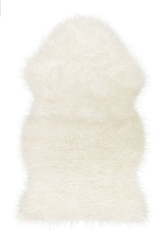 For the Wood Chairs in living room - IKEA-Faux-White-Sheepskin-Rug-New-Super-Warm-Soft-Cozy