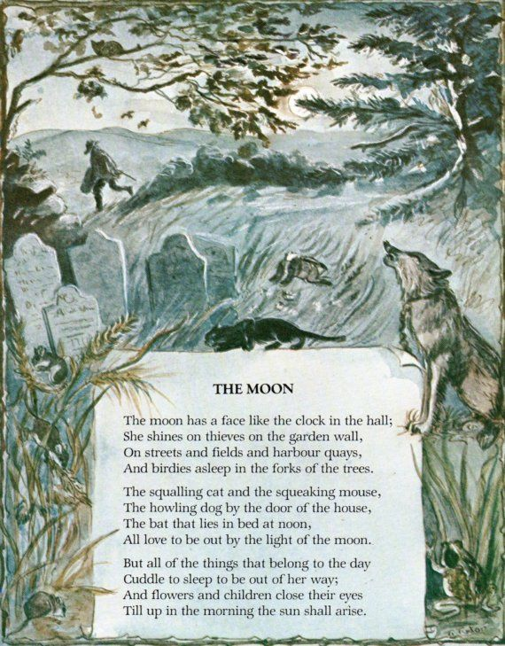 The Moon From A Childu0027s Garden Of Verses By Robert Louis Stevenson,  Illustrated By Tasha Tudor