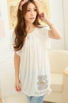 Baju Kaos Import Putih Cantik | Toko Baju Online
