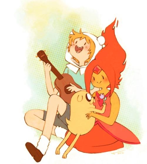 O casal mais lindo- Finn e Princesa de Fogo