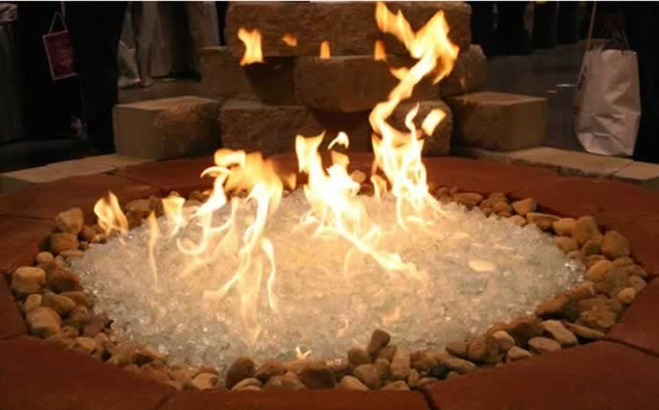 front entrance fire pits with ice