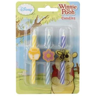 WINNIE THE POOH CANDLES - SET OF 6