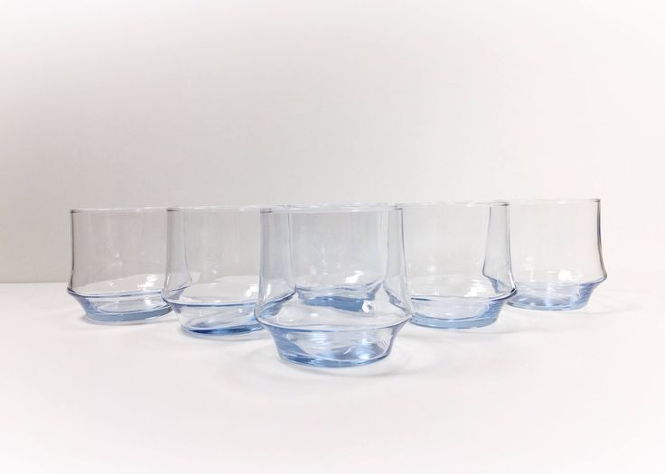 Vintage Glasses Light Blue Low Ball Cocktail Glasses, Old Fashioned Glasses Mad Men Style Baby Light Blue Decor, Mid Century Modern Barware, by ChattCatVintage on Etsy