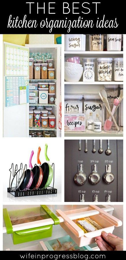 kitchen organization | organization ideas for the home | simple DIY projects | budget organization. Click for lots of pictures and projects!