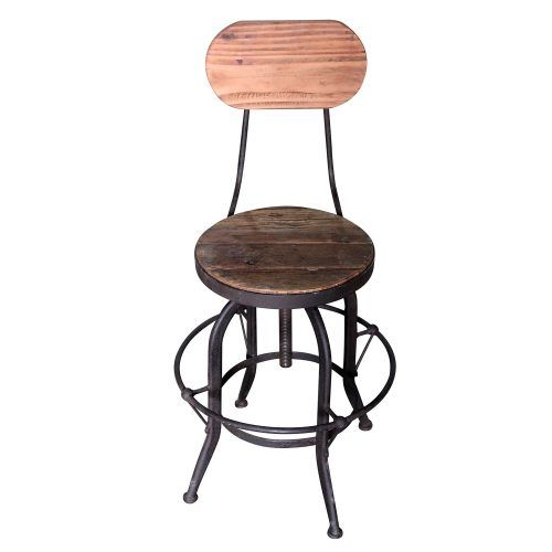 Quirky. Rustic. Industrial. Get the wow reaction with the Industrial Swivel Bar Chair. Made from Reclaimed Timber, this chair is constructed on a heavy iron base and offers comfort, style and design, and an adjustable height.