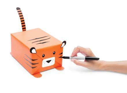 Me encanta esta forma de envolver regalos con forma de animales.