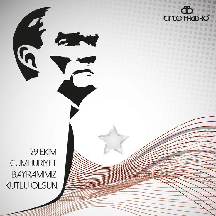 #cumhuriyet bayramı #kutlu olsun #atatürk #türkiye #kart #kutlama #artefabbro