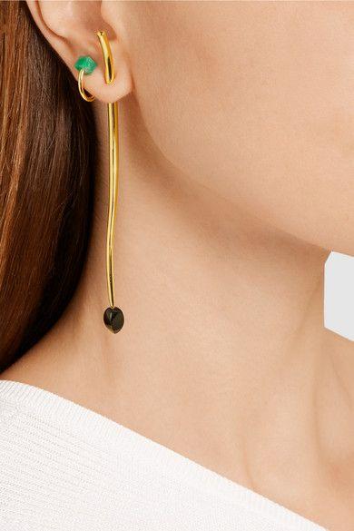 Paula Mendoza | Rot gold-plated emerald ear cuff | NET-A-PORTER.COM
