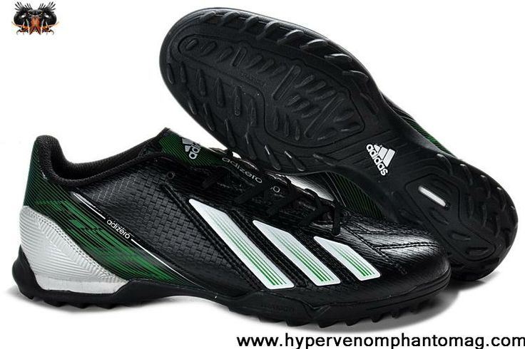 adidas F10 TRX TF Football Boots Messi 7 - Black White Green For Sale