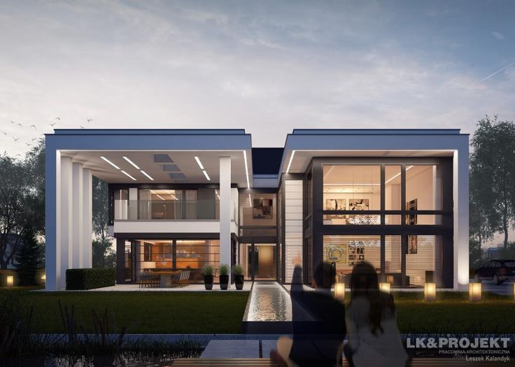 Projekty domów LK&Projekt LK&1274 wizualizacja 4