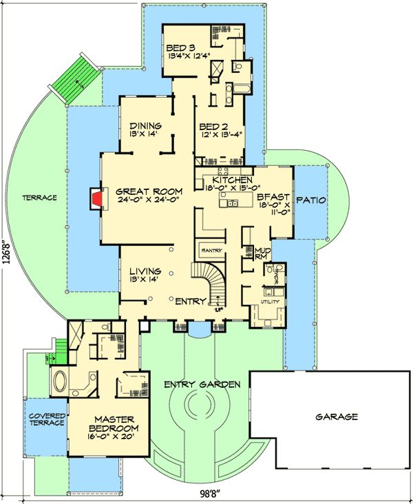 17 best images about courtyard floor plans on pinterest for Mediterranean floor plans with courtyard