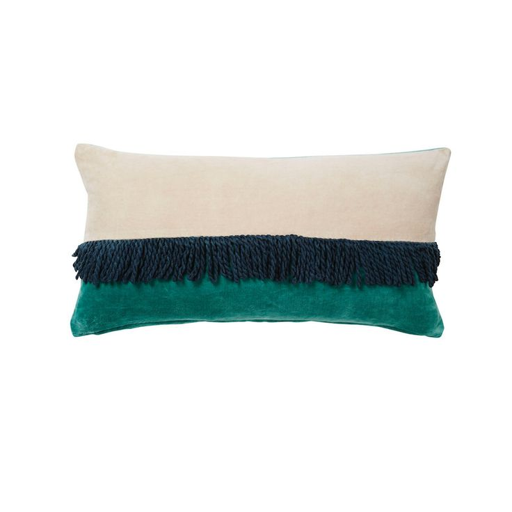 Neve Velvet Tassle Cushion - Blush | Sage and Clare 30x60