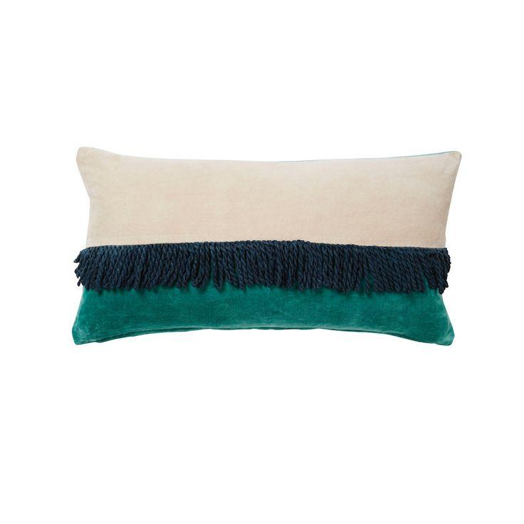 Neve Velvet Tassle Cushion - Blush | Sage and Clare 30x60