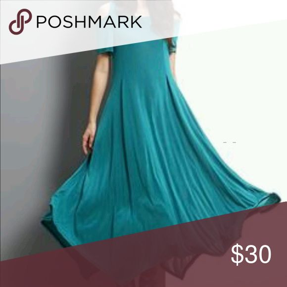 Teal maxi dress Reborn teal maxi dress. Brand new with tags. Awesome material. reborn Dresses Maxi