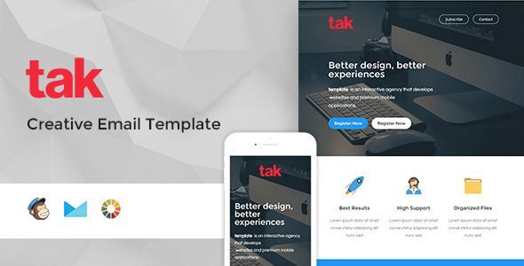 Tak - Modern Email Template + Online Access - Email Templates Marketing