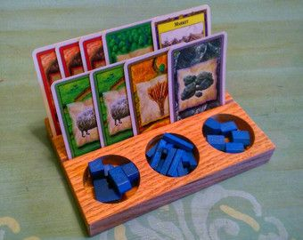 Settlers of Catan Wooden Card Holder for Resource by shopfoxwood