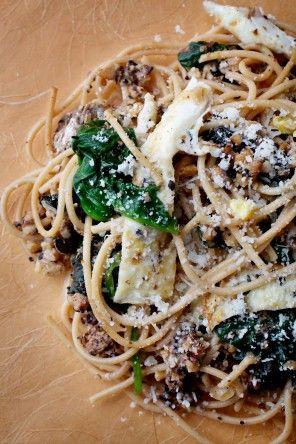 Spaghetti With Fried Egg and Sardines Recipe Details | Recipe database | washingtonpost.com