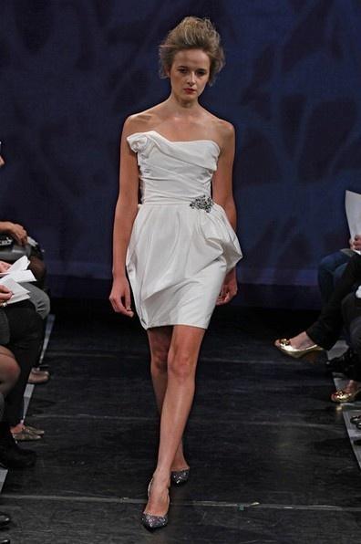 Strapless Mini Gown Empire with Taffeta GIGI