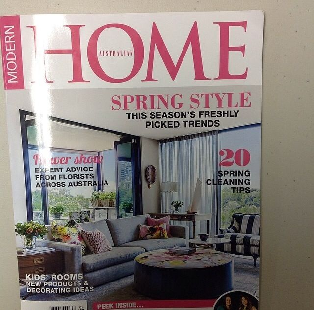 I had the pleasure of featuring my home in Modern home magazine this month.