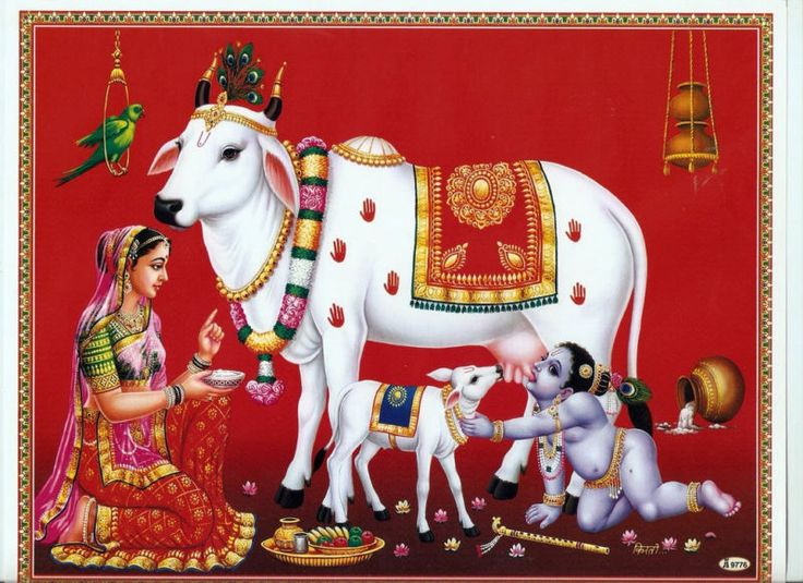 "LORD BABY KRISHNA  MATA YASHODA YASODA MAA-INDIAN  POSTER --9"" x11"" - 9776 picclick.com"