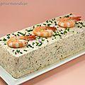 Terrine de Saint-Jacques, saumon et crevettes à la crème citronnée - Péché de gourmandise Plus