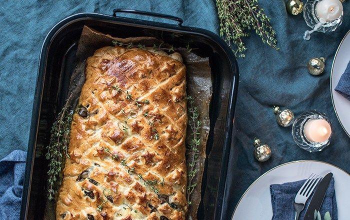 Alternatives Weihnachtsessen.Lachs Wellington Mit Spinat Und Pilzen Weihnachtsessen Alternative