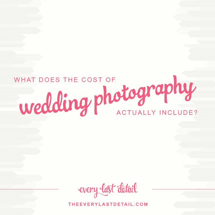 What Does The Cost of Wedding Photography Include