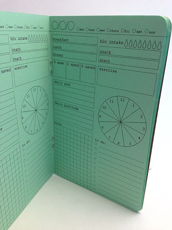 DAILY ORGANIZER Planner for Traveler's by YellowPaperHouse on Etsy