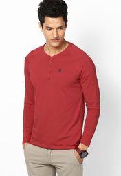 Red Henley T-Shirt