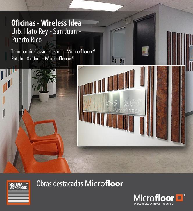 Revestimiento de pavimento Microfloor Línea Classic - Mosaico muro Línea OXIDUM Acero