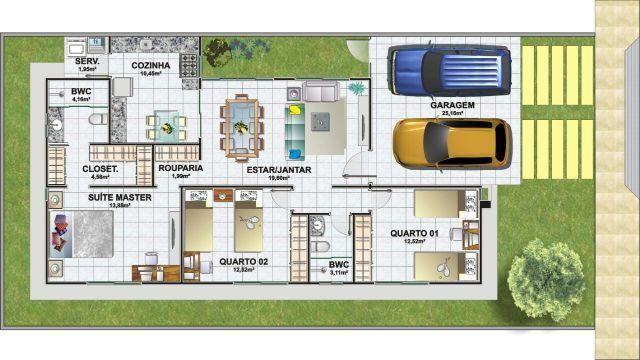 Casa em condominio fechado 2 quartos para alugar com Área