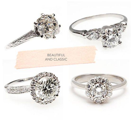 Vintage engagment rings