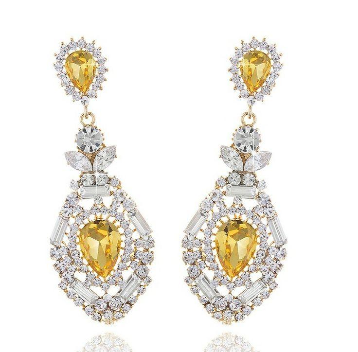 Cercei Chandelier, Bijuterii, Jewelry, Borealy  http://www.borealy.ro/bijuterii/cercei/colectia-cercei-chandelier-glamour/cercei-chandelier-topaz.html