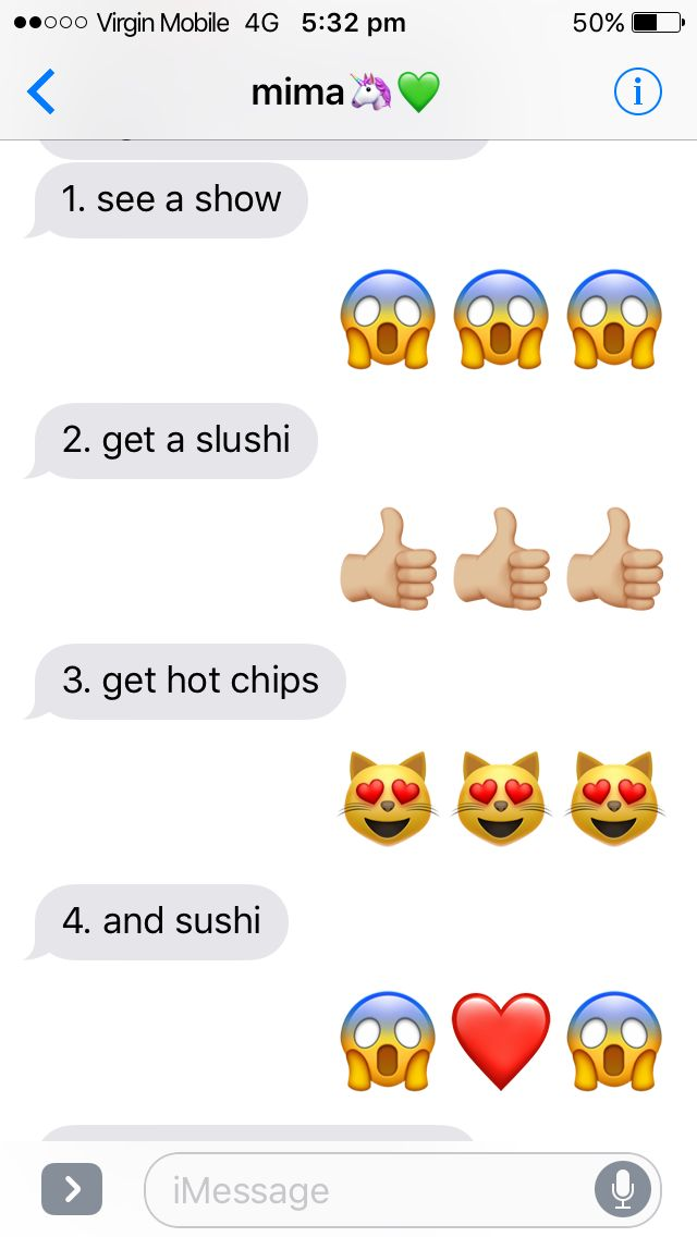 when ur friend has an awesome idea and emojis speak louder than words 😂🤣❤️😋