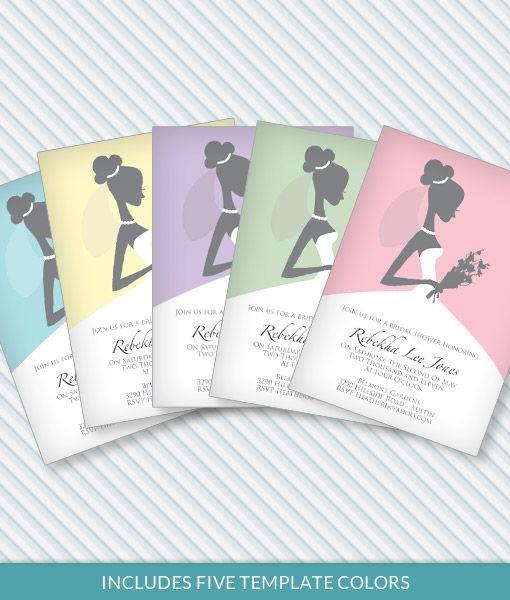 39 best Bridal Shower Planning \ Invitation Templates images on - bridal shower invitation templates