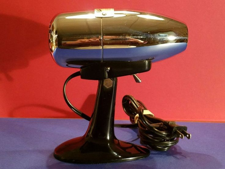 VINTAGE MID-CENTURY MODERN OSTER 202 AIR JET HAND-HELD TABLE TOP HAIR DRYER