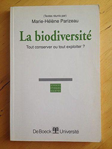 """#biologie #éthique #environnement : La biodiversité. Tout conserver ou tout exploiter ? Cet ouvrage est une exploration pluridisciplinaire de différentes facettes de la diversité biologique. Le concept de biodiversité est synonyme de conservation des écosystèmes mais également d'exploitation des """" ressources naturelles """". Lorsqu'il est traduit en termes biologiques, économiques, juridiques et politiques, des intérêts et des valeurs opposés apparaissent. Plus largement, la biodiversité..."""