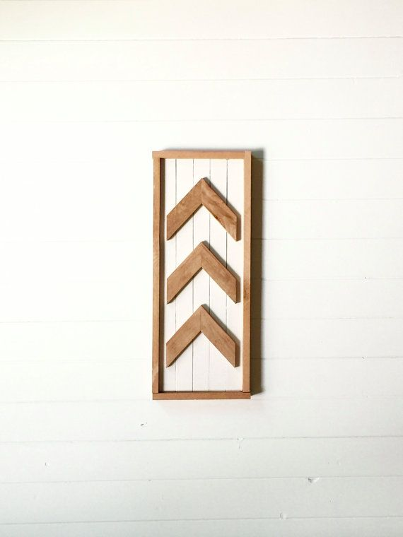 Arrow, Wood, White, Framed, Wall Decor, Wall Hanging