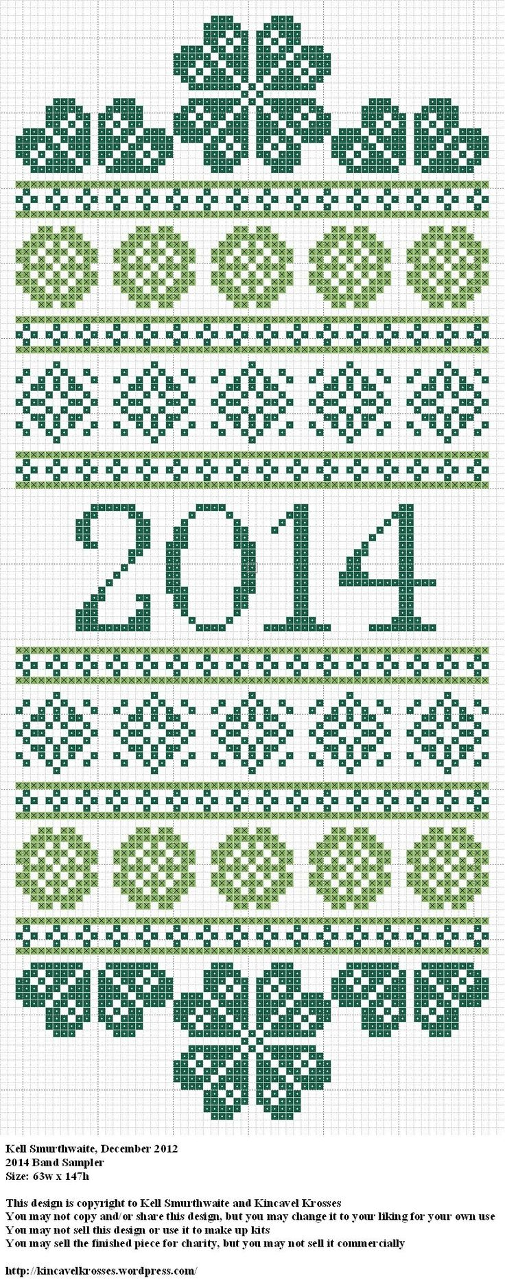2014 Band Sampler, designed by @Kell Smurthwaite, from Kincavel Krosses.