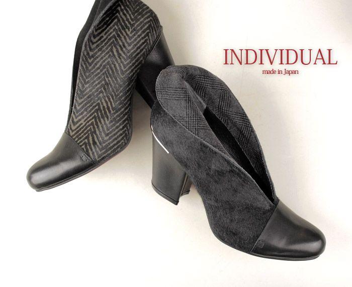 【楽天市場】INDIVIDUAL インディヴィジュアル ラボキゴシ 靴 6049 レッドソール 折り返し ハラコ ブーティ ブーツ:Parade